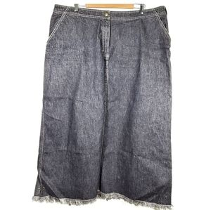 Jones NY Jean's Maxi Denim Skirt 22W